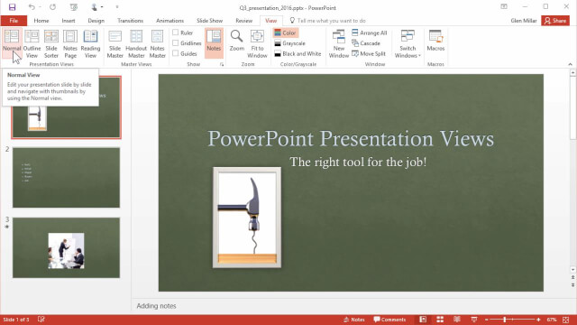 Exploring PowerPoint's Views