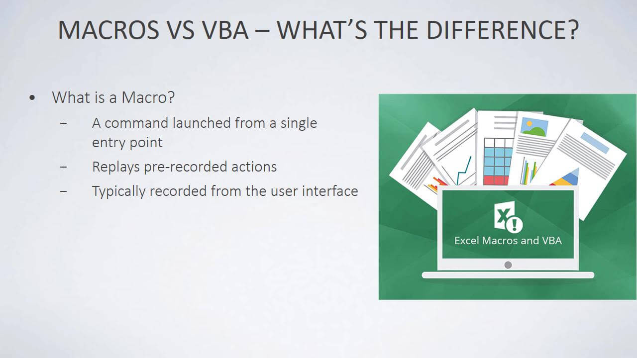 Macros vs VBA - What's the Difference?