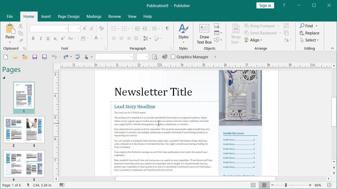 Microsoft Publisher Ilmainen
