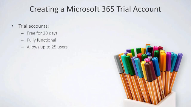 Creating a Microsoft 365 Trial Account