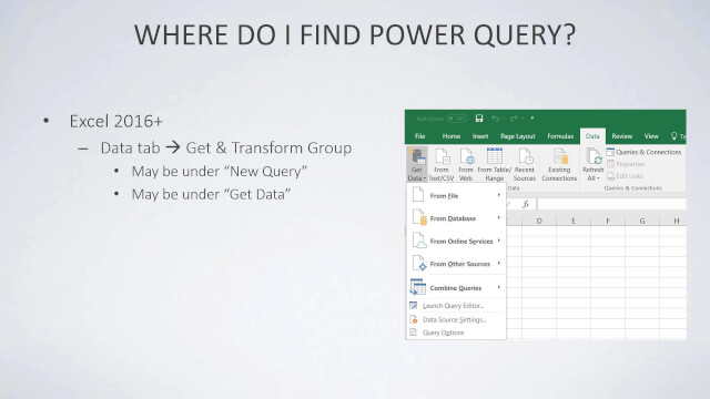 Acquiring and Updating Power Query