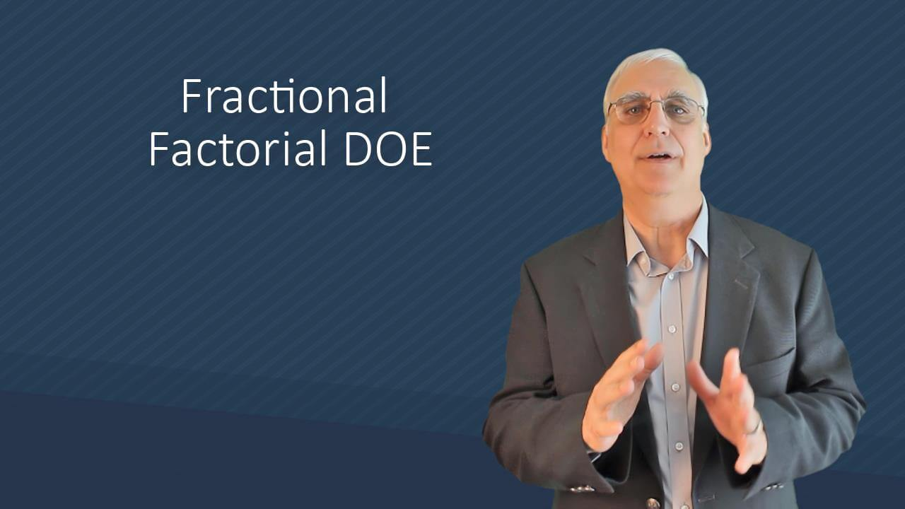 Fractional Factorial Design of Experiments