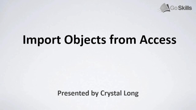 Import Objects from Access